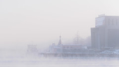 Admiralty shipyard in frosty morning (Suicidal_zombie) Tags: saintpetersburg stpetersburg neva bigneva river water vapour steam winter frost ice snow sunny beautiful landscape bright russia russie russland sky shipyard shipbuilding waterscape white mist tree city building
