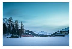 Stadion St. Moritz, Graubünden, Switzerland (AmBasteir) Tags: himmel sky winter snow schnee landschaft sigma sigma35mm sigmaart nikond810 nikon bluehour engadin stmoritz switzerland landscape longexposure leebigstopper leefilters