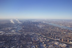 New York Aerial (erica-kalmeta) Tags: new york landscape city airplane big apple buildings skyline empire state building manhattan bronx central park winter snow architecture photography bridge nyc usa