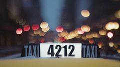 Taxi (Jovan Jimenez) Tags: sony a6500 tilt shift nikkor 50mm f12 fuji pro 400 taxi chicago bokeh car cab 6500 ilce cinematic night twilight kipon adapter alpha color fujicolor film luts lookuptable fujifilm 400h emulation text sign widescreen 16x9 streetphotography yellow