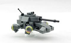 """Mongoose"" Scout Hovertank (Deltassius) Tags: lego space war military hove tank armor vehicle"