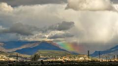 Magia (Micheo) Tags: granada spain rain lluvia nubes clouds rainbow arcoiris
