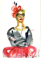 purim-1 (marin71) Tags: art drawing sketch reportage carnival costumes people urbansketchers