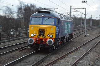 Direct Rail Services Revised 'Compass' Class 57/3, 57308