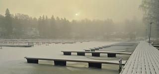 January in Hangonkylä harbour