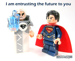 I am entrusting the future to you (WhiteFang (Eurobricks)) Tags: lego minifigures cmfs movie blockbuster dc comics heroes bad guys baddies hero characters city town superheroes costume collections collectable fleshie licensed batman superman