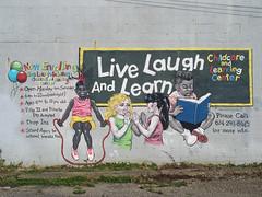 OH Columbus - Mural 81 (scottamus) Tags: columbus ohio franklincounty mural painting art building graffiti live laugh learn