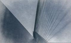 Bridge (Jorden Esser (on a break)) Tags: erasmusbridge erasmusbrug rotterdam cablestayedbridge hss sliderssunday abstract texture