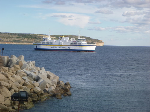 "Ferry ""Gaudos"" approaches Ćirkewwa from Gozo"