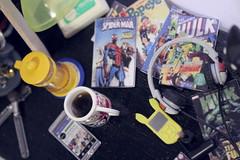 Geek girl desk (kinmegami) Tags: rement geek coffee miniature doll barbie 16 pokemon megahouse french press youthdayshighschoolplayback welcometopikachuroom yellowdogscoffeeshopcaptainburger