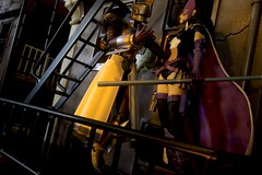 Paprihaven 1301 (MayorPaprika) Tags: canoneos50d huntress dcdirect birdsofprey universe alley back dark fight fire escape shfiguarts skyhigh tigerandbunny 112 custom diorama toy story paprihaven action figure set 80s 90s