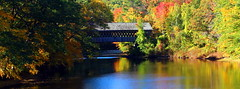 Henniker Covered Bridge (pegase1972) Tags: us usa bridge nh fall automne autumne foliage river water reflection unitedstates newhampshire newengland licensed exclusive getty