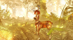 (sinvictta) Tags: cute girl redhead deer fawn nature secondlife sl catwa magical mistical pretty magic forest