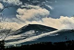 Cairngorm sun and cloud (Fr Paul Hackett) Tags: mountain cairngorm snow shadow clouds branches sunshine winter