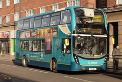 AMN 4529 @ Leicester Haymarket bus station (ianjpoole) Tags: arriva midlands alexander dennis enviro 400mmc yx16okh 4529 working route 5a kennet way melton mowbray leicester haymarket bus station