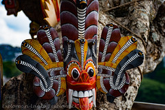 Wooden Masks at Arthur's Seat (exploreslk) Tags: arthurs seat kandy srilanka travel panoramic view observation point tourist attractions