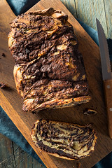 Sweet Homemade Chocolate Babka Bread (brent.hofacker) Tags: apart babka background bake baked bread breakfast brioche brown bun cake chocolate chocolatebabka cinnamon cooking cuisine culture dessert dipped dough european food french glazed gourmet homemade life natural parchment pastry polish povitica pull roll rustic slice sweet sweets swirl traditional