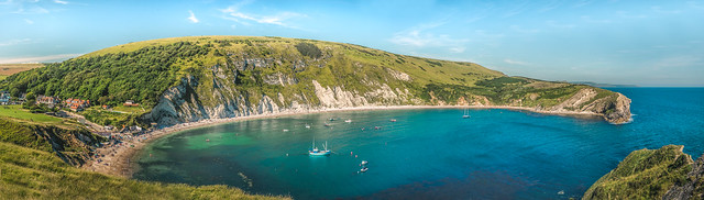Lulworth cove panorama