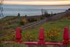 Paisible Charlevoix (deVégas) Tags: charlevoix la malbaie province québec canada stlaurent stlawrence fleuve river clôture fence chemin fer railroad
