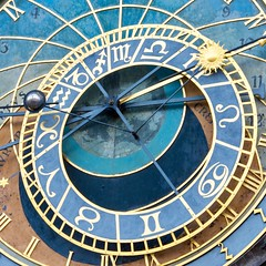 The astronomical clock on Old Town Square, Prague ( in Explore) (Eastern Traveller) Tags: prague astronomical clock czech republic staromestka namesti old town square orloj praha townhall