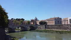 St. Peter's Basilica across the River Tiber (Stewart Forsyth) Tags: st peters basilica rome river tiber roman vatican city building architecture