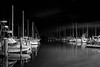 Pre-dawn at the marina - Titusville (Ed Rosack) Tags: usa portfoliolandscape highres stars hires sailboat ©edrosack lowlight florida portfoliolandscapeflorida cityscape titusville astronomy bluehour marina cloud landscape panorama sky centralflorida bw nighttime olympus boat cloudy