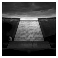 Cascading (picturedevon.co.uk) Tags: avondam dartmoor devon uk bw blackandwhite fineart landscape mono water sky clouds wall grey le longexposure canon wwwpicturedevoncouk