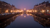 Light Mist (McQuaide Photography) Tags: haarlem noordholland northholland netherlands nederland holland dutch europe sony a7rii ilce7rm2 alpha mirrorless 1635mm sonyzeiss zeiss variotessar fullframe mcquaidephotography adobe photoshop lightroom tripod manfrotto light licht availablelight water reflection longexposure stad city urban waterside lowlight outdoor outside waterfront architecture skyline building gebouw winter canal gracht nieuwegracht 169 widescreen weather mist misty mistig damp lowvisibility dusk twilight bridge brug