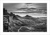 Hidden Gem XIV (Frank Hoogeboom) Tags: unitedkingdom uk scotland schotland quiraing landscape sky skye isle isleofskye island monochrome blackandwhite bnw dramatic vista road moutains hills nature clouds fineart