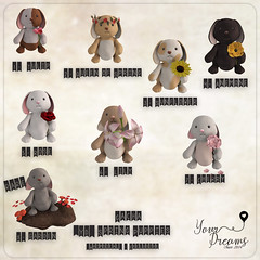 {YD} Spring Puppies ({Your Dreams}) Tags: whimsical yourdreams newdecoration bunny puppies 100originalmesh