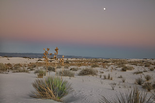 Deep Twilight over White Sands National Monument
