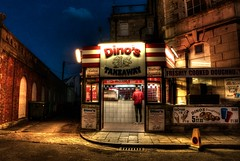 A cold night in Swanage (rickfrancis105) Tags: swanage food fast eating