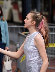 Baton Twirler (swong95765) Tags: female lady parade twirling marching pretty highschool