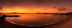 Dawn, Montagu Bay, Nassau, Bahamas (shanepinder) Tags: dawn early morning ocean sea water pano panoramic horizon horizontal clouds sky sunrise beach seashore peaceful peace serene serenity nassau newprovidence bahamas