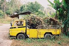 Abandoned Workhorse (benriley80) Tags: abandoned work overgrown pai thai thailand chiangmai nikonf3 film kodak proimage100