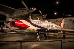 F100 Super Sabre (donnieking1811) Tags: ohio dayton nationalmuseumoftheusairforce airforce museum aircraft airplane redwhiteblue stars indoors hangar hdr canon 60d photomatixpro lightroom