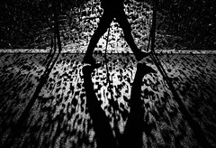 locked (Dan-Schneider) Tags: streetphotography street silhouette shadow blackandwhite bw schwarzweiss sun lines step fuji fujix frame