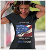 I Stand for the National Anthem and Freedom. Women's: Anvil Ladies' V-Neck T-Shirt. Black.  | Loyal Nine Apparel (LoyalNineApparel) Tags: 2a anthem cute donttreadonme fashionista girlsandguns girlswithguns girly gop gungirl instafashion instagood libertarian livefreeordie loyalnineapparel loyalnineclothes nationalanthem ootd patrioticwomen pew proamerica stylish teaparty teeshirt threeper threepercent threepercenter usa wethepeople womensfashion