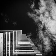 Up in Smoke (Darren LoPrinzi) Tags: 5d canon5d fl canon florida miii square squareformat architecture architectural perspective building clouds sky cloudscape dark tampa tampafl bw blackwhite blackandwhite mono monochrome geometry geometric