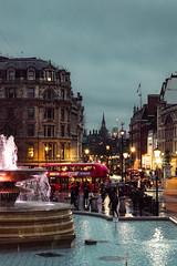 London (adamtambaro) Tags: nikon3400 nikon nightime night nightshoot england london londonstreets londontown blue light lights trafalgar