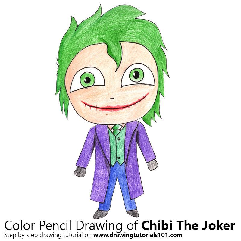 how to draw chibi joker
