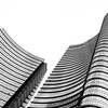 Unicredit Tower (morbs06) Tags: césarpelli milan milano unicredittower abstract architecture building bw city colour curves facade highrise light lines reflections repetition sky square stripes urban white italy