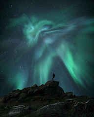 The watcher (Jay Daley) Tags: norway arctic polar aurora northern lights borealis night nightphotography northernlights astro sony a7r2