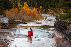 river (OneLifeOnEarth) Tags: onelifeonearth montana river autumn color red girl selfportrait canon dearborn photographyandpoetry