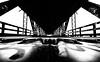 Dark Silhouettes (KC Mike Day) Tags: bridge bridges silhouettes dark light shadow river kansas bottoms west