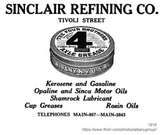 1918 sinclair refining four brothers axle grease (albany group archive) Tags: albany ny history 1918 sinclair refining four brothers axle grease hisgen early 1900s old vintage photos picture photo photograph historic historical