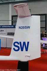 N20SW - 2017 build Schleicher ASH 31 Mi, displayed at Friedrichshafen during Aero 2017 (egcc) Tags: sw 31160 ash31 ash31mi aero aerofriedrichshafen aerofriedrichshafen2017 bodensee bolderflight edny fdh friedrichshafen glider lightroom motorglider n20sw schleicher