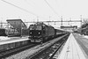 RC3 1046, Hallsberg 2018-02-17 (Michael Erhardsson) Tags: sj tåg järnväg svartvitt 2018 februari rc3 1049 blå tåget skandinaviska jernbanor