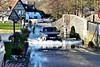 Eynsford Ford (Geoff Henson) Tags: ford car bridge river water wave sign pub grass landrover trees 1000v40f