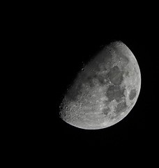Another Clear Night (Deepgreen2009) Tags: moon craters clear night sky satellite half light celestial